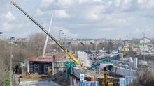 Travaux du pont de Nogent